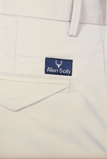 Allen Solly Off White Casual Trouser