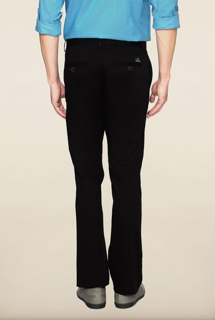 Allen Solly Black Solid Casual Trouser