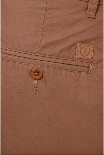 Van Heusen Brown Slim Fit Chinos