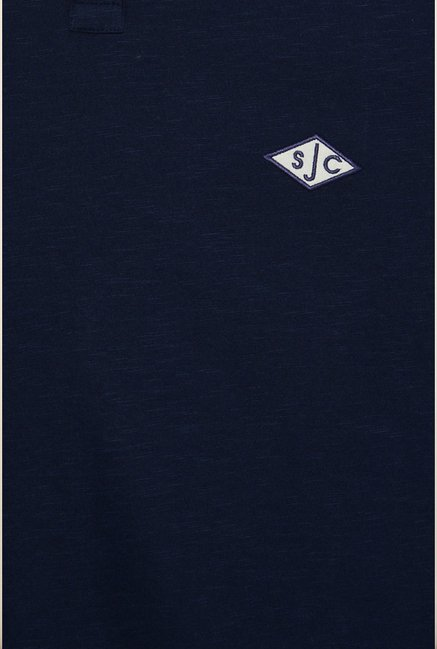 Allen Solly Navy Solid T shirt