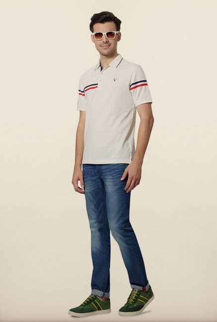 Allen Solly White Wimbledon Polo T shirt