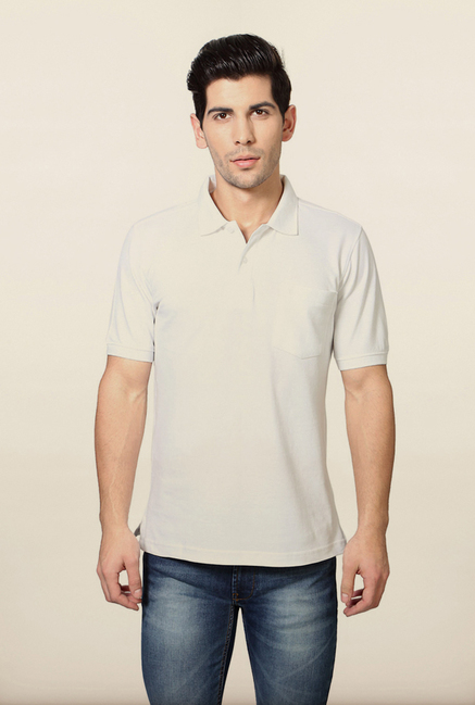 Van Heusen White Polo T Shirt