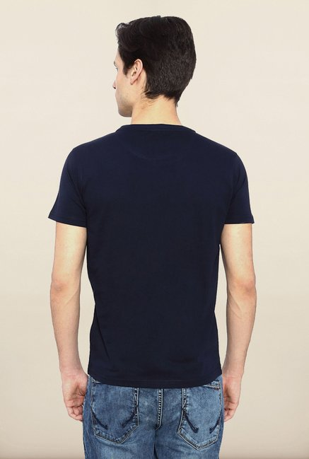 Allen Solly Navy Printed T shirt