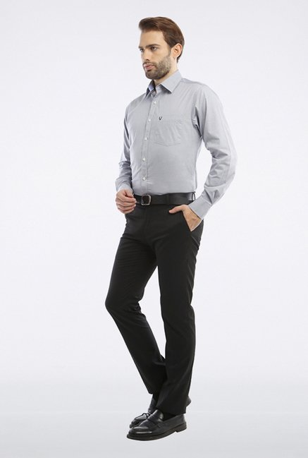 Allen Solly Grey Solid Casual Shirt