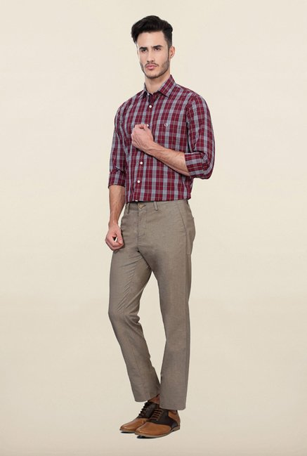 Allen Solly Grey Casual Trouser