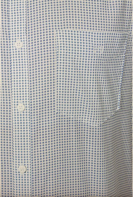 Van Heusen White Printed Shirt