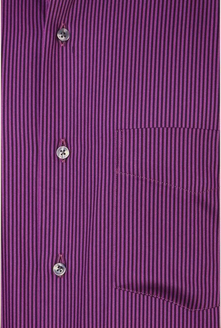 Van Heusen Purple Striped Shirt