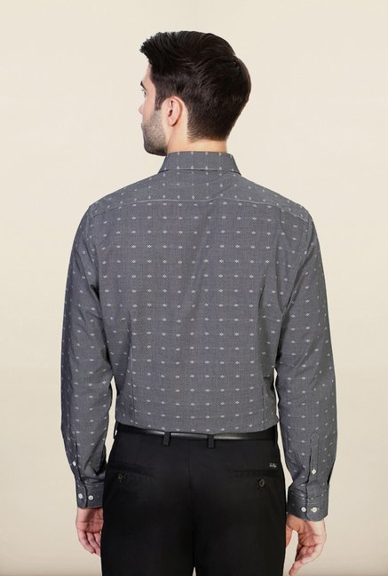 Van Heusen Black Printed Shirt