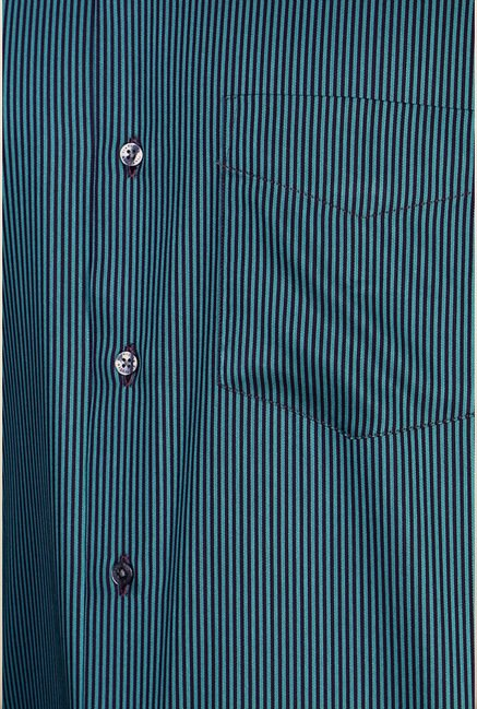 Van Heusen Teal Striped Shirt