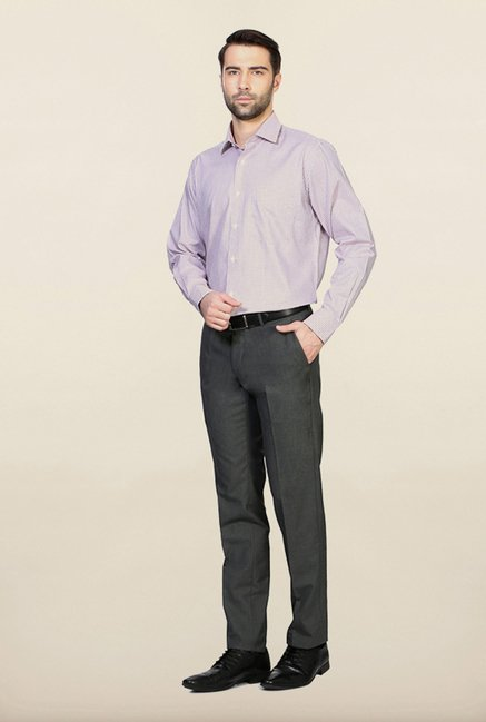 Van Heusen Pink & Blue Checks Cotton Shirt