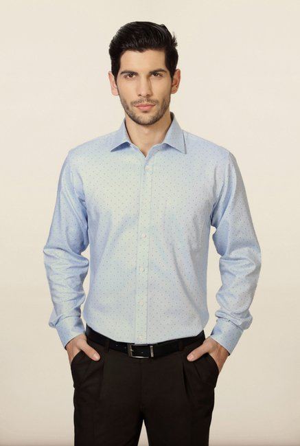 Van Heusen Blue Polka Dot Shirt