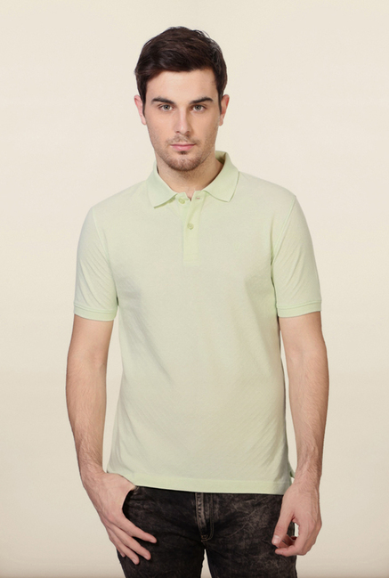 Van Heusen Lime Green Cotton T Shirt