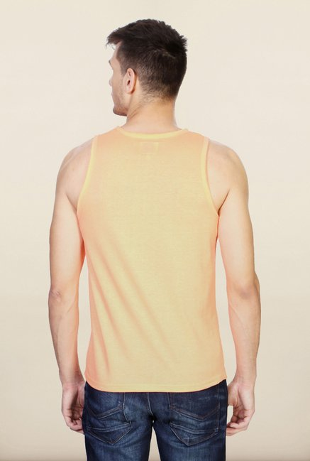 People Peach Printed Vest