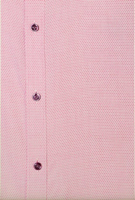 Van Heusen Pink Self Printed Shirt