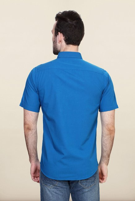 Allen Solly Blue Solid Casual Shirt
