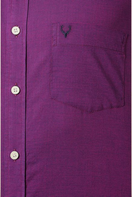 Allen Solly Purple Solid Casual Shirt