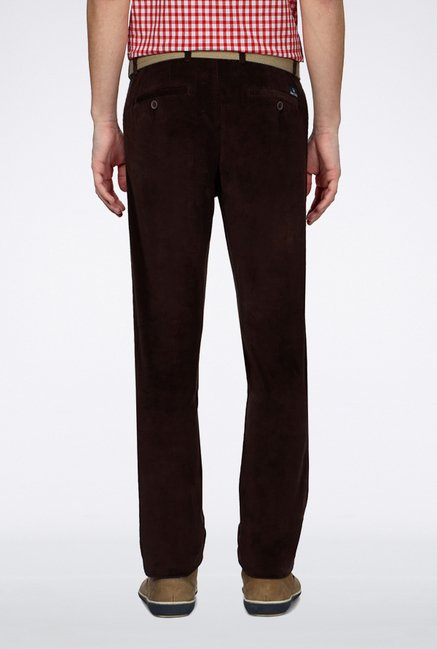 Allen Solly Brown Casual Trouser