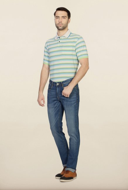 Allen Solly Blue Solid Jeans