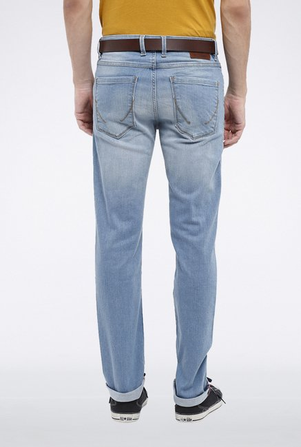 Allen Solly Light Blue Solid Jeans
