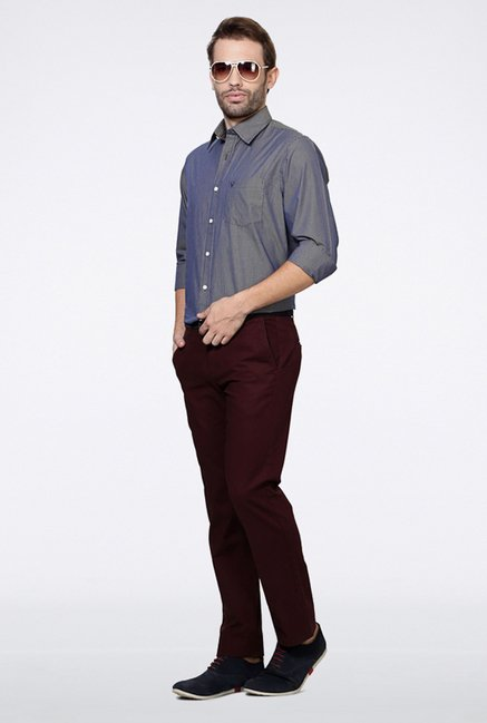Allen Solly Grey Checks Casual Shirt