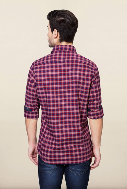 Van Heusen Red & Blue Checks Shirt