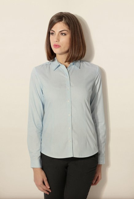 Van Heusen Light Blue Striped Shirt