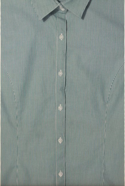 Van Heusen Green Striped Shirt