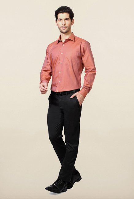 Van Heusen Peach Solid Shirt
