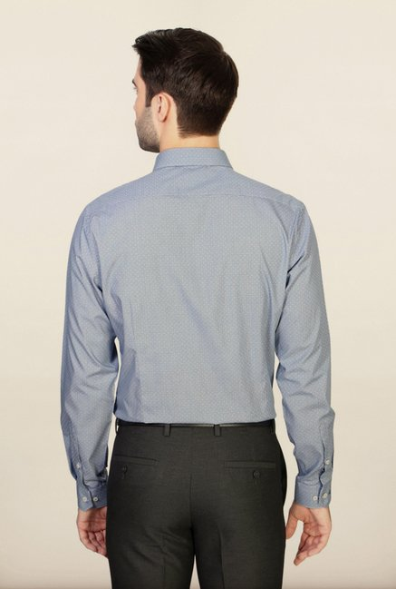 Van Heusen Blue Printed Shirt