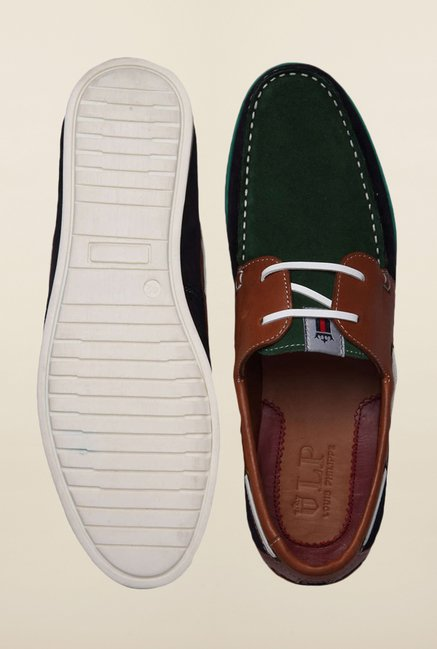 Louis Philippe Green Boat Sneakers