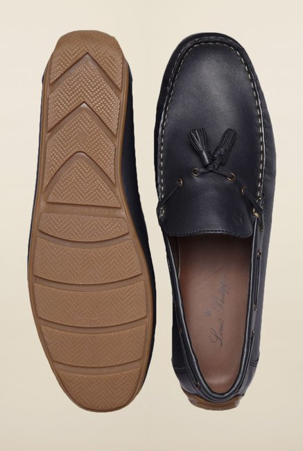 Louis Philippe Navy Moccasins