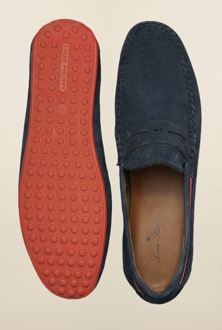 Louis Philippe Navy Loafers