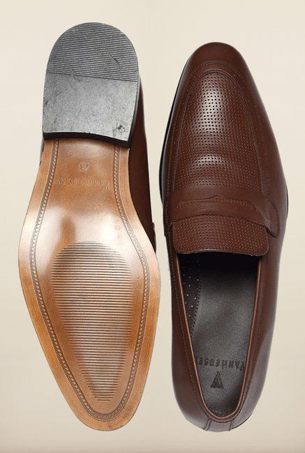 Van Heusen Brown Formal Slip-Ons Shoes