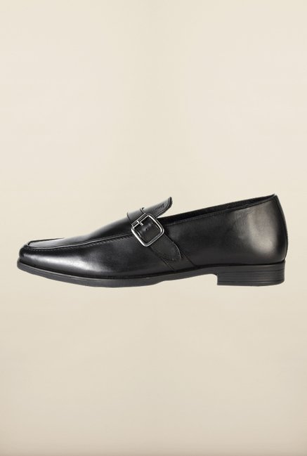 Van Heusen Black Monk Shoes
