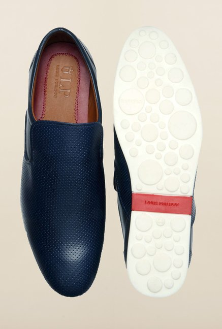 Louis Philippe Blue Casual Slip-Ons