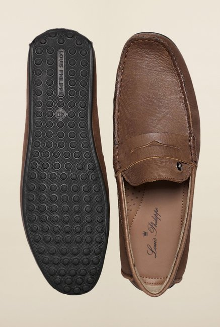 80384cceabe Buy Louis Philippe Brown Loafers Online at best price at TataCLiQ