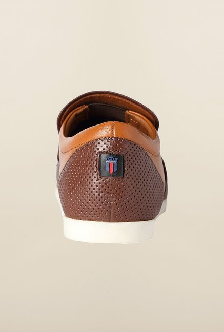 Louis Philippe Brown Casual Slip-Ons