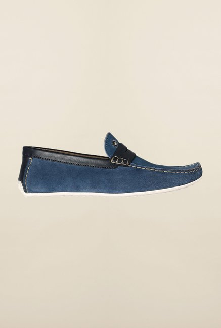 Louis Philippe Blue Loafers
