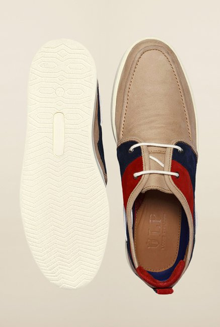 Louis Philippe Beige Sneakers