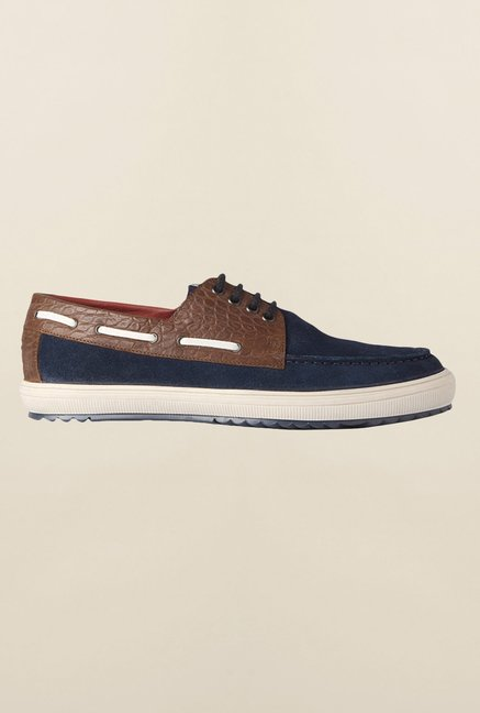 Louis Philippe Navy Boat Shoes