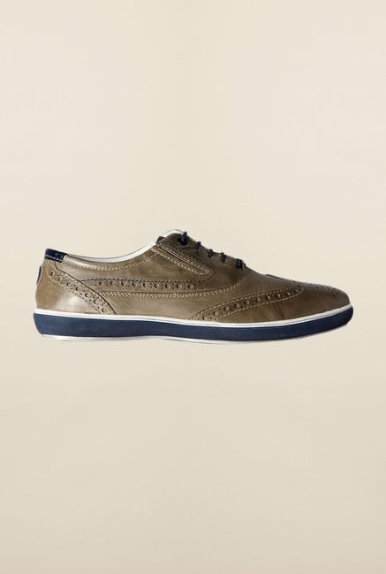 Allen Solly Olive Brogue Shoes