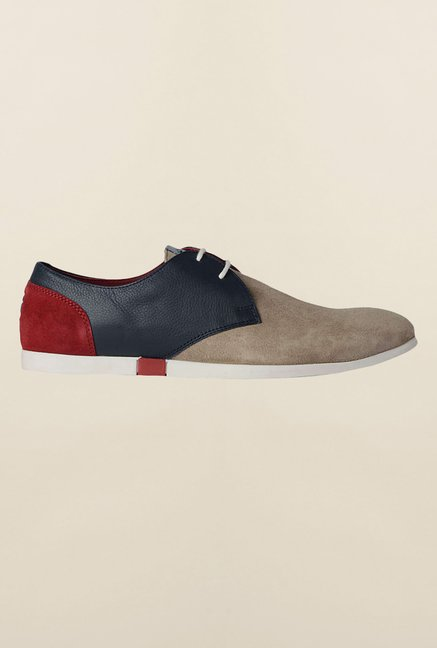 Louis Philippe Beige & Navy Casual Shoes