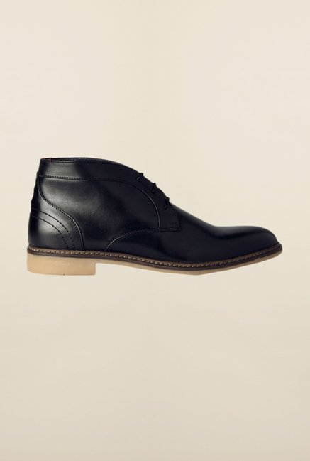 Allen Solly Black Chukka Shoes