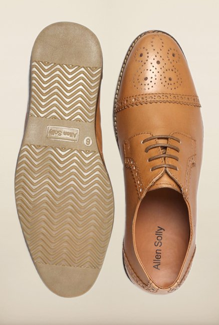 Allen Solly Tan Brogue Shoes