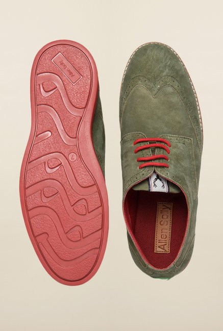 Allen Solly Green Brogue Shoes