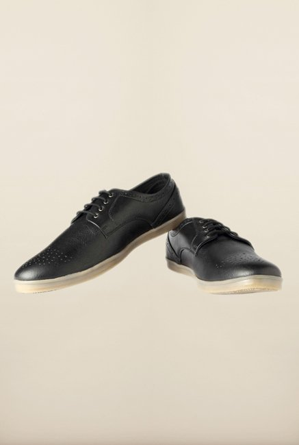People Black Brogue Shoes