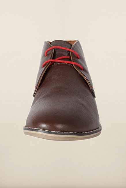 Allen Solly Dark Brown Chukka Shoes