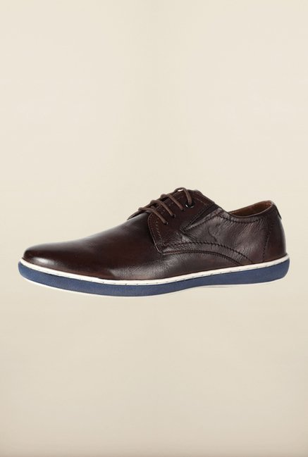 Allen Solly Dark Brown Derby Shoes