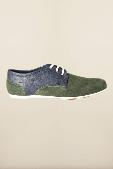 Allen Solly Olive Green Derby Shoes
