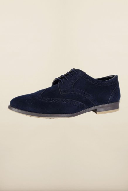 People Blue Brogue Shoes